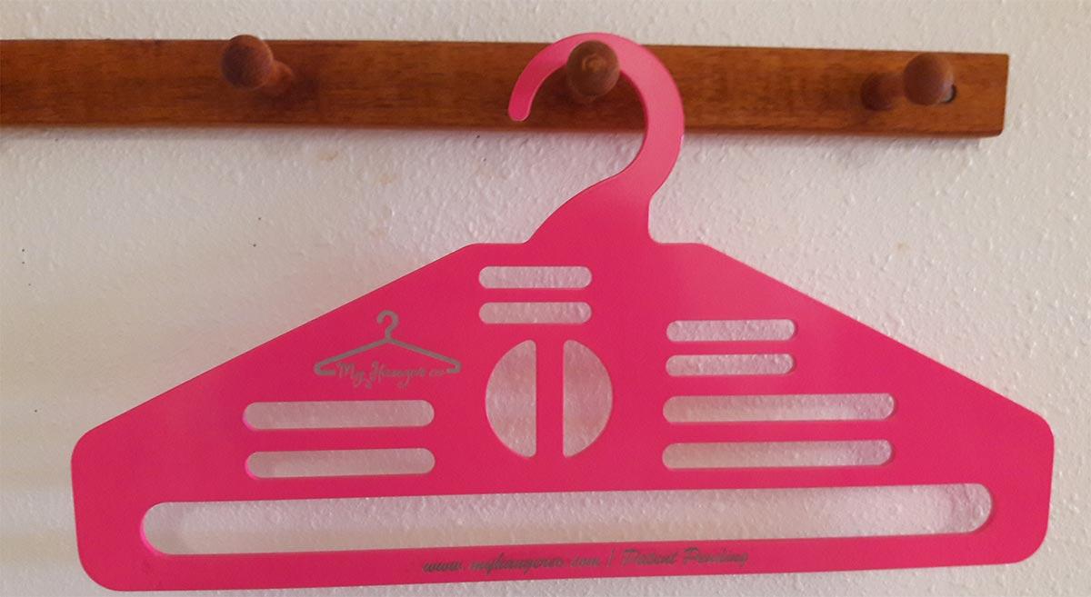pink coat hanger