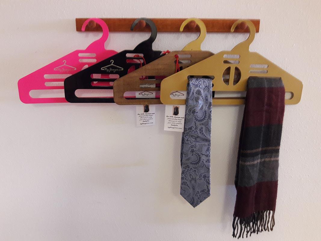 hanger with ties